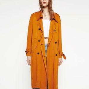 Incredible Orange Zara Trenchcoat